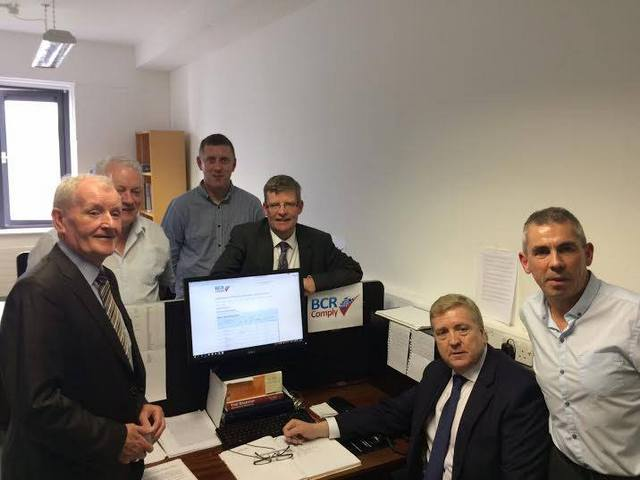 Mr Breen Visits BCR Comply